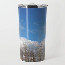 Blue Lined Skies Travel Mug