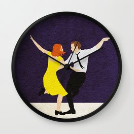 La La Land Alternative Minimalist Film Poster Wall Clock