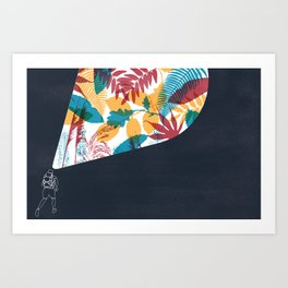 Running with my father Art Print