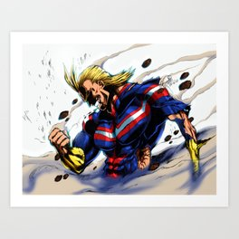 AllMight, The last fight Art Print