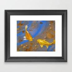Pair of Golden Koi Framed Art Print