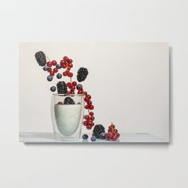 fruits and yogurt Metal Print