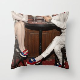 I'd like to take you on a date. Sixteen past eight Throw Pillow