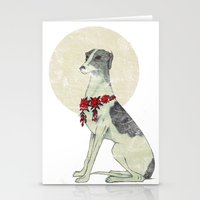 greyhound Stationery Cards featuring GREYHOUND by HOLO-HOLO