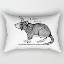 Unicorn Rat Rectangular Pillow