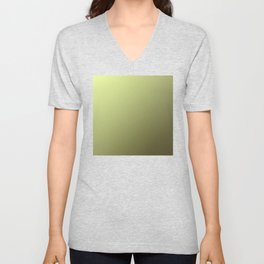 Yellow Green and Olive Green Gradient Unisex V-Neck