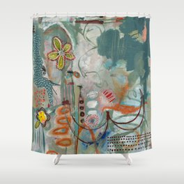 Not so Green Thumb Shower Curtain