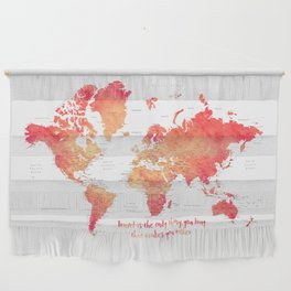 Travel is the only thing you buy that makes you richer world map Wall Hanging