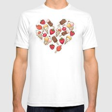In love with icecream SMALL Mens Fitted Tee White