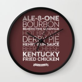Louisville —Delicious City Prints Wall Clock
