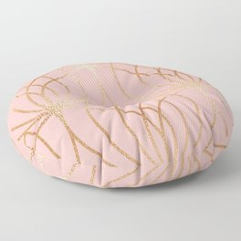 Rose gold millennial pink blooms Floor Pillow