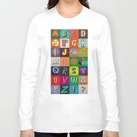 alphabet Long Sleeve T-shirts featuring Alphabet by rob art | simple