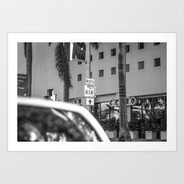 So I continued to A1A, Beachfront Avenue - Miami Art Print