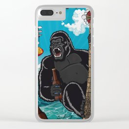 King kong Clear iPhone Case