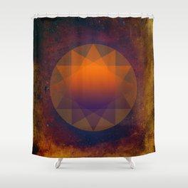 Merkaba, Abstract Geometric Shapes Shower Curtain