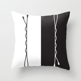 Large Bobby Pins Throw Pillow