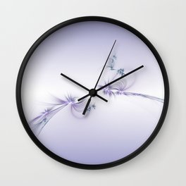 Fey Lights Fractal in Violet Wall Clock