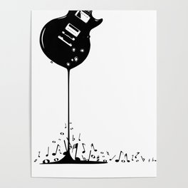 Bubbling Musical Notes Poster