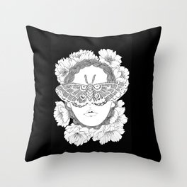 blind by beauty Throw Pillow