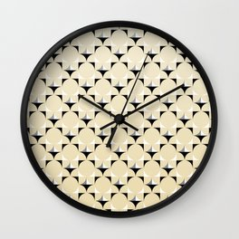 Mod Lt Sandalwood Wall Clock