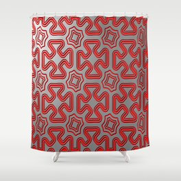 Christmas wrap pattern Shower Curtain