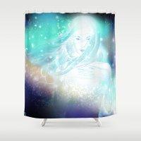 aurora Shower Curtains featuring Aurora by Stevyn Llewellyn