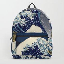 Great Wave: Kanagawa Night Backpack