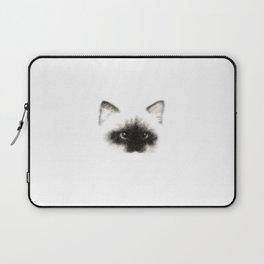 Angora Siamese Cat - png version - Chat Siamois Angora Laptop Sleeve