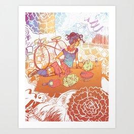 Bicycle Picnic Art Print