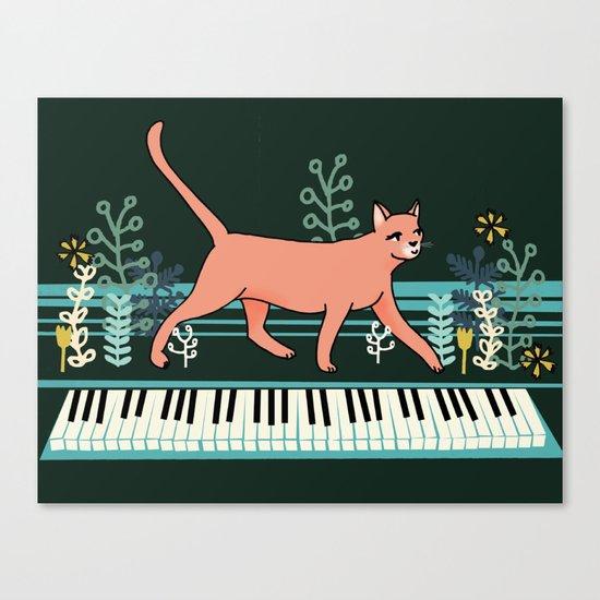 Kitten on the Keys Canvas Print