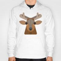 elk Hoodies featuring Elk by A.D.