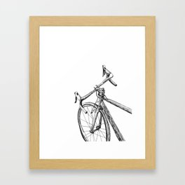 Moving bicycle Framed Art Print