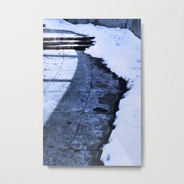 Grounding Snow Metal Print
