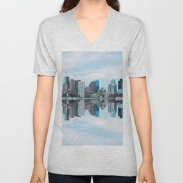 Boston reflection Unisex V-Neck