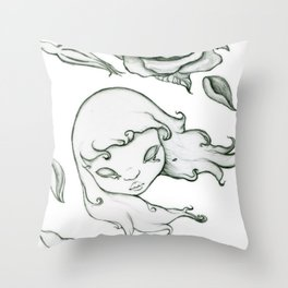 Rose in the wind Throw Pillow