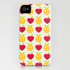 Apple and Orange - Love and Peace iPhone (4, 4s) Slim Case