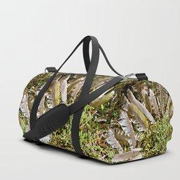 Grey-headed woodpecker feathers - Life goes on Duffle Bag