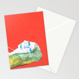 Helga in profile in full face Stationery Cards