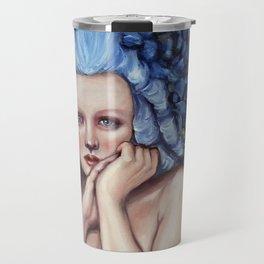 Blue Wig Travel Mug