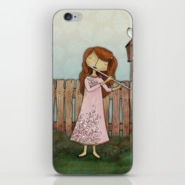 Lucy Plays a Song of a New Birth iPhone Skin