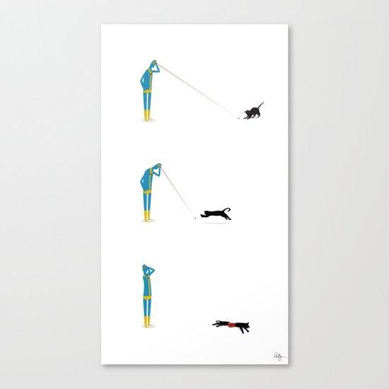 Cyclops' Cat Canvas Print