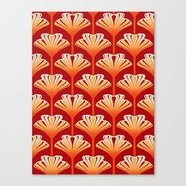 Art Deco Lily, Mandarin Orange and Gold Canvas Print