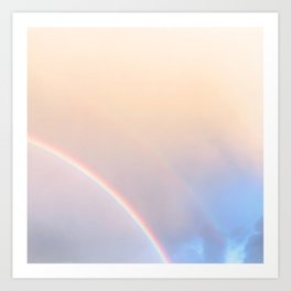 160. Pink and Blue Rainbow, France Art Print