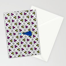Peacock in pattern Stationery Cards