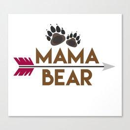 Mama Bear Mothers Day Gift - Shirt Canvas Print
