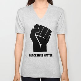 Oakland California 1971 Black Power Fist with Black Lives Matter, Super Sharp PNG 2 Unisex V-Neck