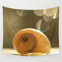 seashell Wall Tapestries featuring Seashell... by Nature In Art...