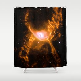 Giant Spider Nebula Shower Curtain