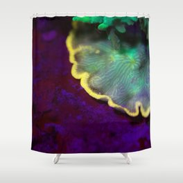 Fluorescent coral skirt Shower Curtain