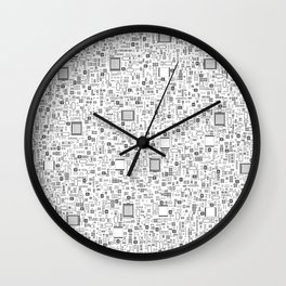 All Tech Line / Highly detailed computer circuit board pattern Wall Clock